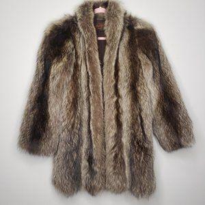 Yves Saint Laurent YSL Fourrures Fur coat